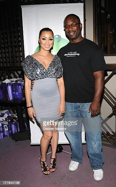 Founder of The FAB Network Jessica Styles and Casa Middle School Principal Jamaal Bowman attends the FAB Goes Double Platinum party at Pranna...