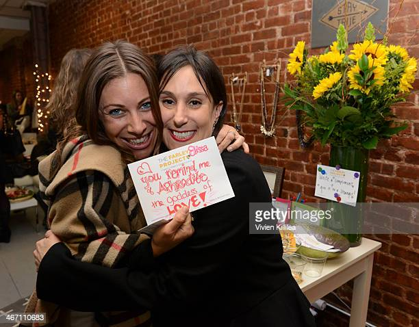 Founder of The Farley Project Elissa Kravetz and Elissa Rosen attend Sarah Boyd x CapwellCo Jewelry Collaboration NYFW Launch on February 5 2014 in...