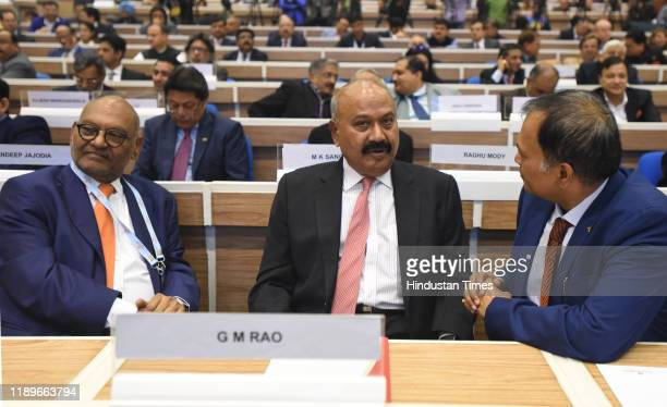 Founder of the GMR Group G M Rao seen during ASSOCHAM annual conference 'New India: Aspiring $5 Trillion Economy', at Vigyan Bhawan on December 20,...