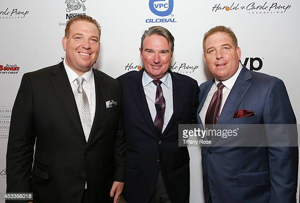 Founder of the Harold Carole Pump Foundation Dana Pump tennis player Jimmy Connors and founder of the Harold Carole Pump Foundation David Pump attend...