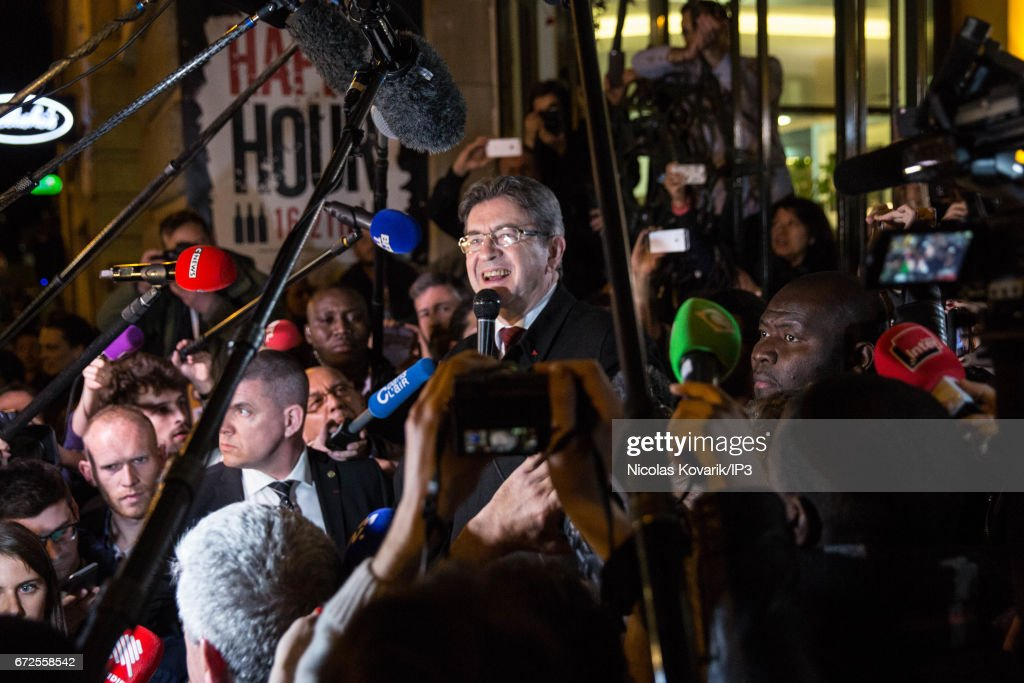 Presidential Candidate Jean-Luc Melenchon Hosts A Meeting In Paris