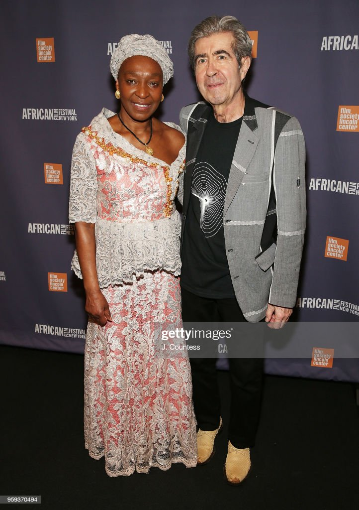 Founder of the New York African Film Festival Mahen Bonetti and Luca Bonetti attend the opening night of the 25th African Film Festival at Walter Reade Theater on May 16, 2018 in New York City.