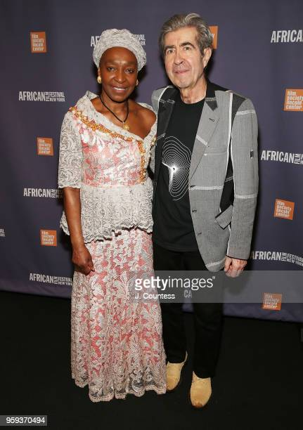 Founder of the New York African Film Festival Mahen Bonetti and Luca Bonetti attend the opening night of the 25th African Film Festival at Walter...