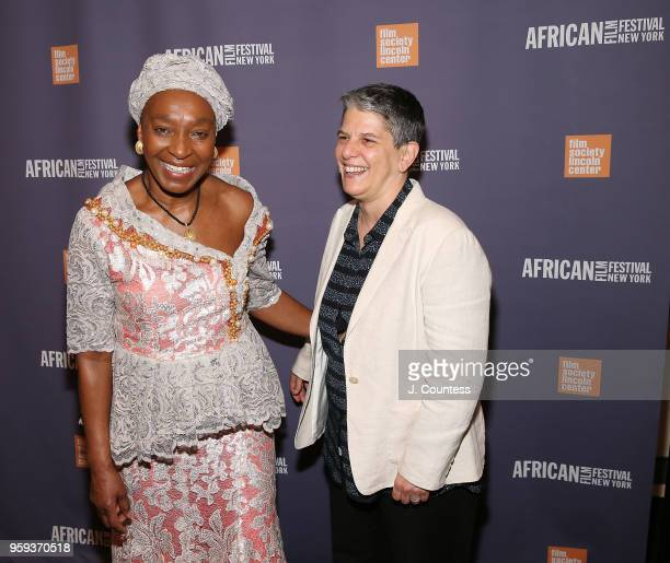 Founder of the New York African Film Festival Mahen Bonetti and Executive Director of the Film Society of Lincoln Center Lesli Klainberg attend the...