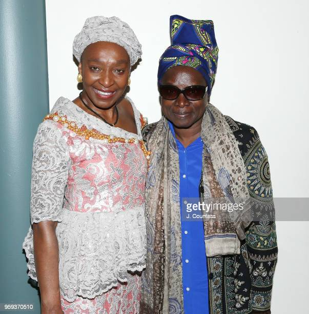 Founder of the New York African Film Festival Mahen Bonetti and singer Angelique Kidjo attend the opening night of the 25th African Film Festival at...