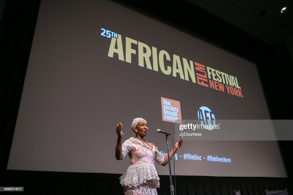 Founder of the New York African Film Festival Mahen Bonetti speaks at the opening night of the 25th African Film Festival at Walter Reade Theater on May 16, 2018 in New York City.