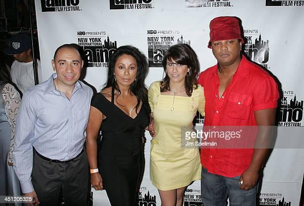 Founder of the New York International Latino Film Festival Galixto Chinchilla Actress Wanda De Jesus Executive Director of the New York International...