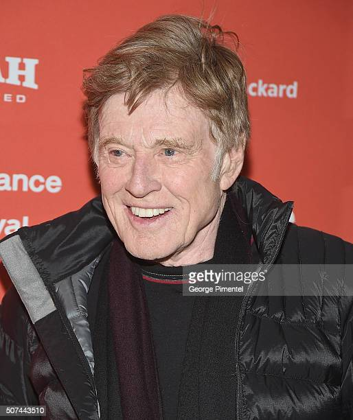 Founder of the Sundance Film Festival Robert Redford attends the 'American Epic' Premiere during the 2016 Sundance Film Festival at Eccles Center...