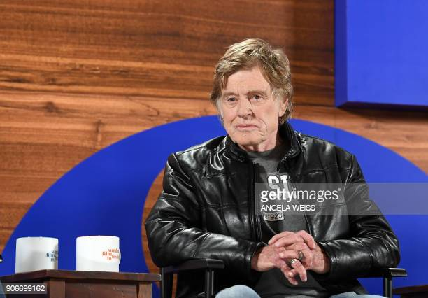 Founder of the Sundance Institute Robert Redford attends the opening day press conference to kickoff the 2018 Sundance Film Festival in Park City...