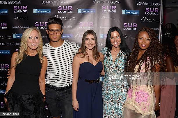 Founder of The Teen Project Lauri Burns actor Asaf Goren dancer Kalani Hilliker Susanna Paliotta and actress Eva Marcille attend Teen Project LA's...