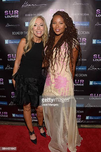 Founder of The Teen Project Lauri Burns and actress Eva Marcille attend Teen Project LA's 2016 Teen Dream at Sur Restaurant on July 28 2016 in Los...