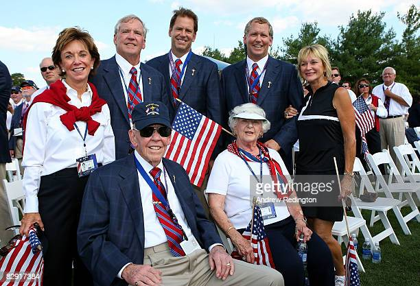 Founder of the Valhalla Golf Club Dwight Gahm attends the opening ceremony for the 2008 Ryder Cup with his family on September 18 2008 in Louisville...