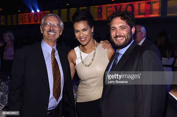 Founder of the Walter Kaitz Foundation Spencer Kaitz Fredricka Whitfield and Alex Kaitz attend the 33rd Annual Kaitz Foundation Fundraising Dinner at...