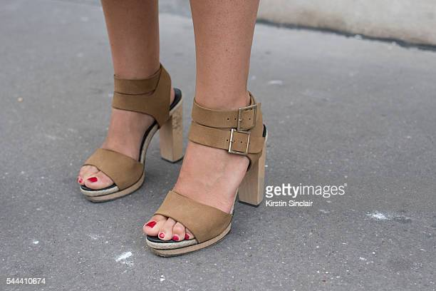 Founder of the Webster boutique Laure Heriard Dubreuil wears Pierre Hardy shoes on day 3 of Paris Collections Men on June 24 2016 in Paris France...