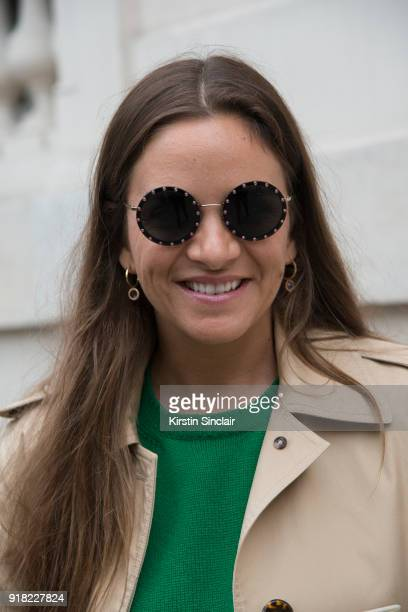 Founder of The Webster store and fashion buyer Laure Heriard Dubreuil wears a Celine coat Valentino dress day 6 of Paris Womens Fashion Week...