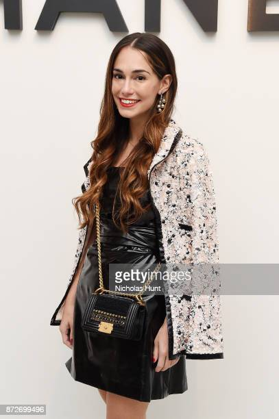 Founder of The Wing Audrey Gelman attends as CHANEL celebrates the launch of the Coco Club a BoyFriend Watch event at The Wing Soho on November 10...