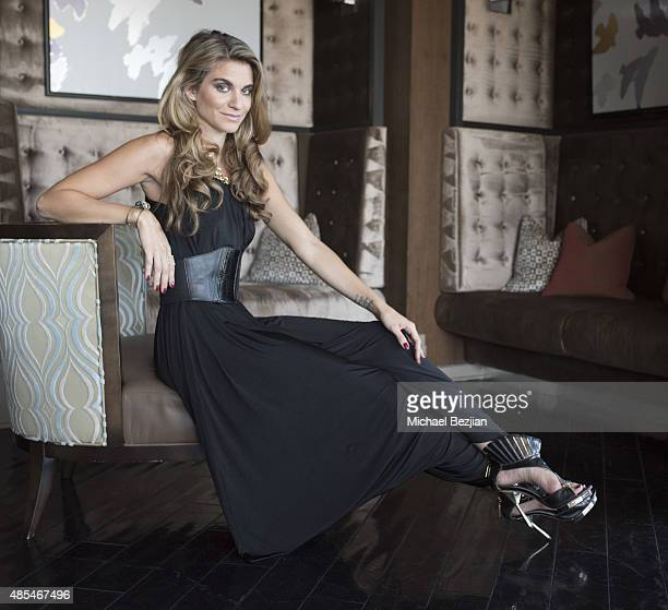 Founder of themccordlistcom Rachel McCord poses for portriat at Rachel McCord Blogger Party on August 27 2015 in West Hollywood California
