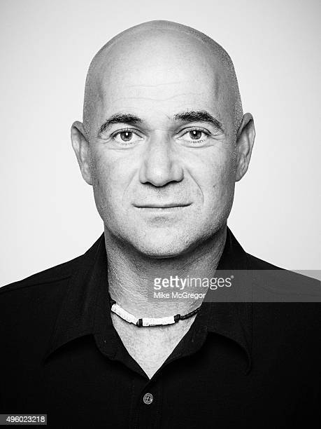 Founder of TurnerAgassi Charter School Facilities Andre Agassi is photographed for Institutional Investor Magazine on September 10 2015 in New York...