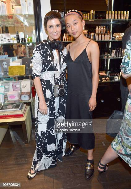 Founder of VIOLET GREY Cassandra Grey and Margaret Zhang attend Beats by Dre for VIOLET GREY Party on July 11 2018 in Los Angeles California
