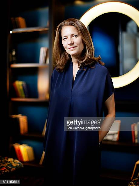 Founder of WantedDesign a platform for US and international design Odile Hainaut is photographed for Madame Figaro on July 27 2016 in Paris France...