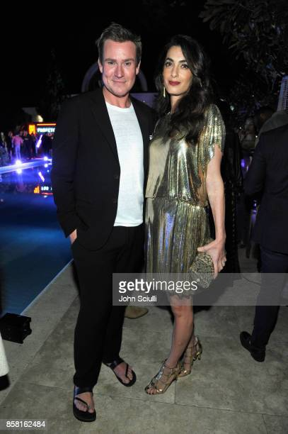 Founder of William Vintage William BanksBlaney and Amal Clooney at Farfetch and William Vintage Celebrate Gianni Versace Archive hosted by Elizabeth...