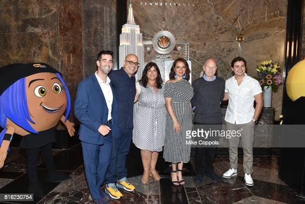 Founder of World Emoji Day Jeremy Burge Director Tony Leondis Producer Michelle Raimo Kouyate Actors Maya Rudolph Patrick Stewart and Actor Jake T...