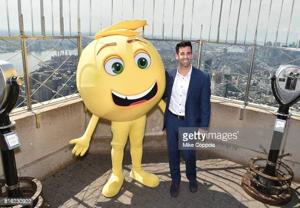 Founder of World Emoji Day Jeremy Burge of The Emoji Movie and Vice President of Development at Girls Who Code Mary Ellen Miller celebrates the...