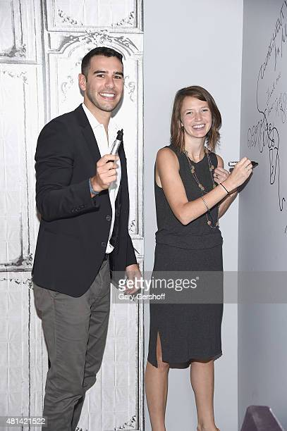 Founder Pencils of Promise Adam Braun and Director of Impact Pencils of Promise Leslie Engle Young attend AOL BUILD Speaker Series Adam Braun...