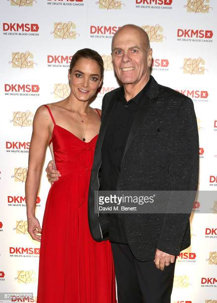 Founder Peter Harf and daughter Katharina Harf host the DKMS Big Love Gala at The Natural History Museum on November 9 2017 in London England