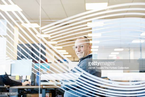 Founder President and CEO of Cross River Bank Gilles Gade is photographed for Forbes Magazine on November 22 2019 in Fort Lee New Jersey PUBLISHED...