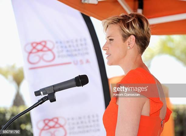 Founder Princess Charlene of Monaco Foundation Princess Charlene of Monaco speaks onstage during The Princess Charlene of Monaco FoundationUSA...