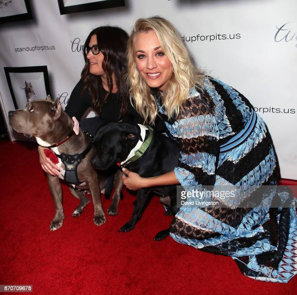 Founder Rebecca Corry and actress Kaley Cuoco attend the 7th annual Stand Up For Pits at Avalon on November 5, 2017 in Hollywood, California.