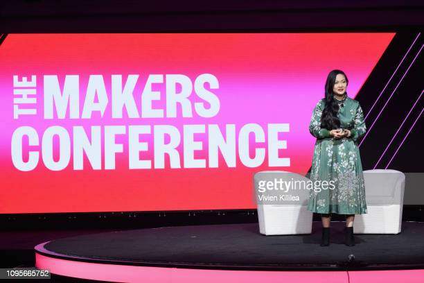CEO Founder Rise Up Inc Amanda Nguyen speaks onstage during The 2019 MAKERS Conference at Monarch Beach Resort on February 8 2019 in Dana Point...