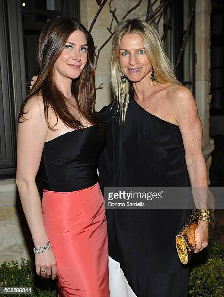 Founder Rochelle Gores Fredston and Crystal Lourd attend the PSLA Winter Gala on February 6 2016 in Beverly Hills California