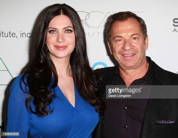 PSLA founder Rochelle Gores Fredston and father businessman Alec Gores attend the 2nd annual Autumn Party at The London Hotel on October 26 2011 in...