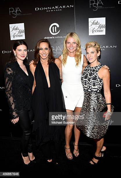 Founder Rochelle Gores Fredston, fashion designer Donna Karan, actress Gwyneth Paltrow and author/founder of Baby Buggy, Jessica Seinfeld attend the...