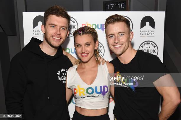 KOBOX Founder Shane Collins Ashley Roberts and KOBOX Trainer Doug Fordyce attend a special charity KOBOX class hosted by Ashley Roberts and Doug...