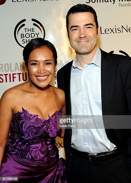 Founder Somaly Mam and actor Ron Livingston arrive at the Somaly Mam Foundation's 2nd annual Los Angeles Gala held at a private residence on...