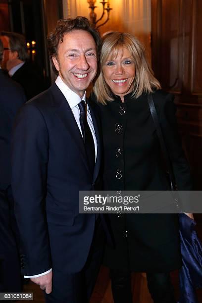 Founder Stephane Bern and Brigitte Macron attend Stephane Bern's Foundation for 'L'Histoire et le Patrimoine Institut de France' delivers its 2016...
