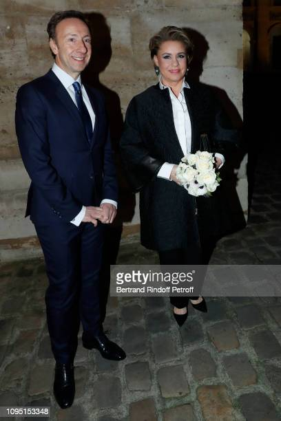 Founder Stephane Bern and Grand Duchess Maria Theresa of Luxembourg attend the 2018 Prize of the Stephane Bern Institut de France Foundation at...