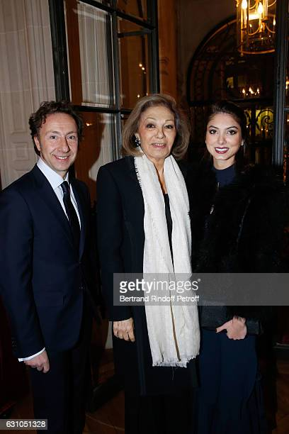 Founder Stephane Bern HIH Farah Pahlavi and her granddaughter Noor Pahlavi attend Stephane Bern's Foundation for L'Histoire et le Patrimoine Institut...