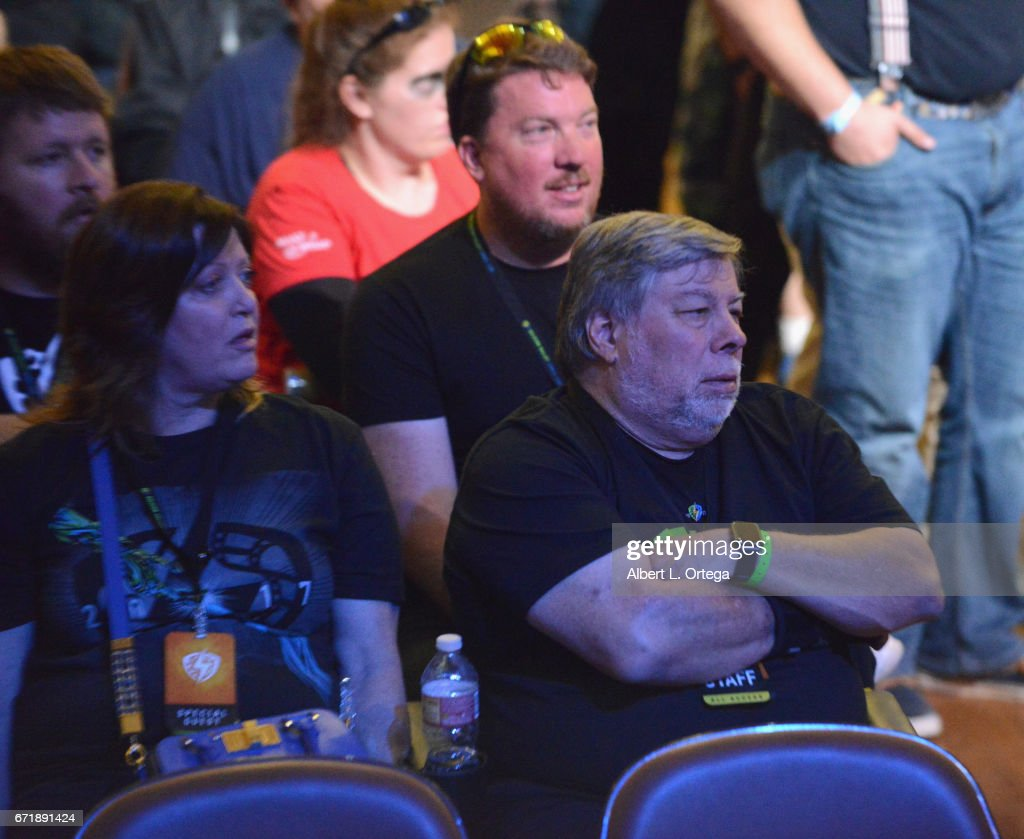 Founder Steve Wozniak And Wife Janet Hill Listen To The Buzz Aldrin News Photo Getty Images
