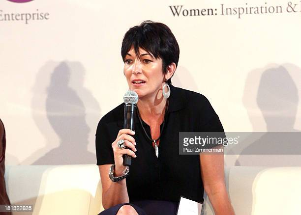 Founder, Terrama Ghislaine Maxwell attends the 4th Annual WIE Symposium at Center 548 on September 20, 2013 in New York City.