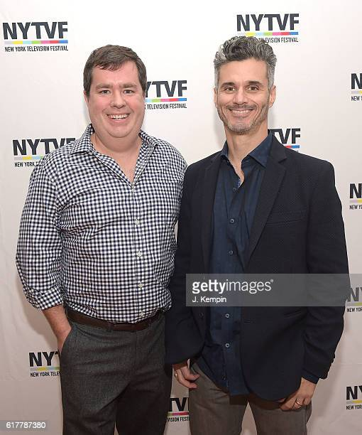 NYTVF founder Terrence Grey and Evan Shapiro NBC Universal's EVP of Digital Enterprises attend the 12th Annual New York Television Festival Artist...