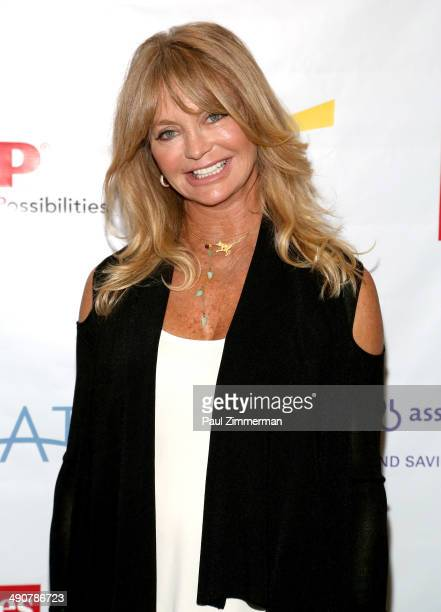 Founder The Hawn Foundation Goldie Hawn attends Forbes Women's SummitThe Entrepreneurship of Everything at 583 Park Avenue on May 15 2014 in New York...