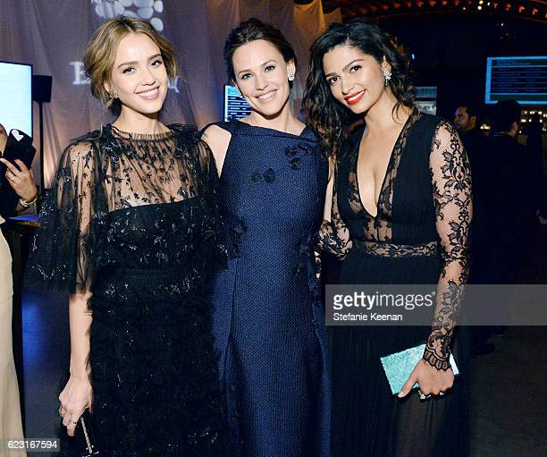 Founder The Honest Company Jessica Alba actress Jennifer Garner and model Camila Alves attend the Fifth Annual Baby2Baby Gala Presented By John Paul...