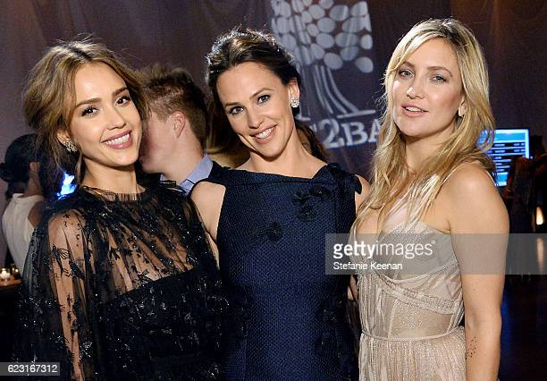 Founder The Honest Company Jessica Alba and actors Jennifer Garner and Kate Hudson attend the Fifth Annual Baby2Baby Gala Presented By John Paul...