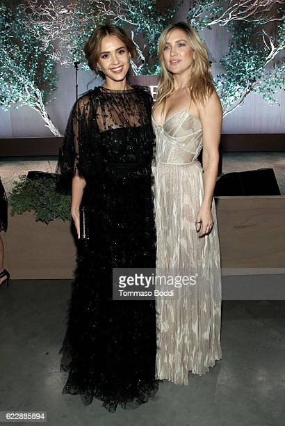 Founder The Honest Company Jessica Alba and actress Kate Hudson attend the Fifth Annual Baby2Baby Gala Presented By John Paul Mitchell Systems at...