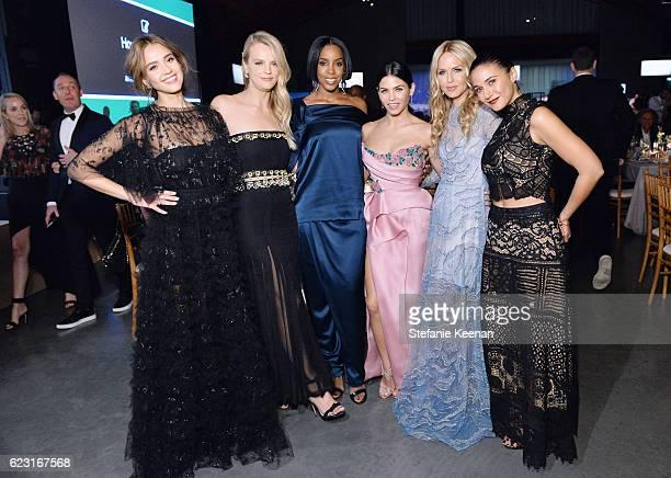 Founder The Honest Company Jessica Alba copresident of Baby2Baby Kelly Sawyer Patricof recording artist Kelly Rowland actress Jenna Dewan Tatum...