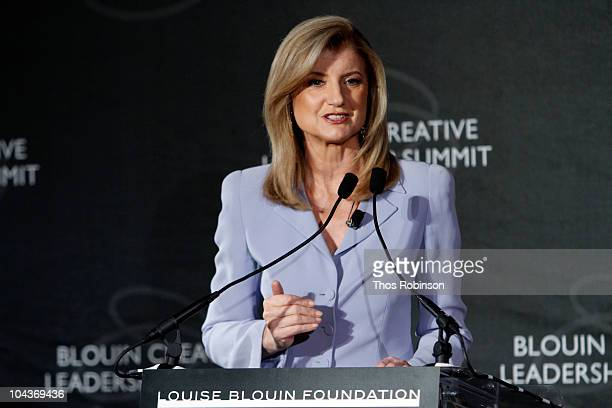 Founder The Huffington Post Arianna Huffington attends 2010 Blouin Creative Leadership Summit Day 1 at the Metropolitan Club on September 22 2010 in...
